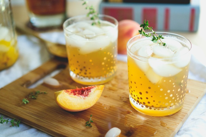 peach bourbon cocktail ii