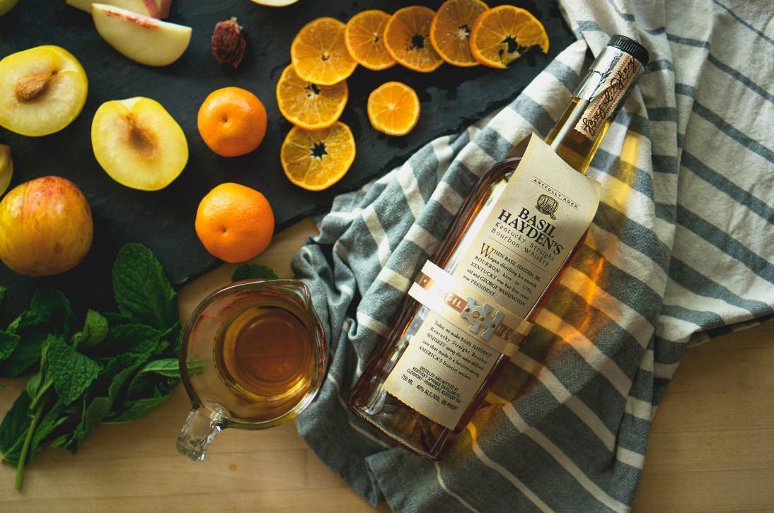 peach sangria - bourbon