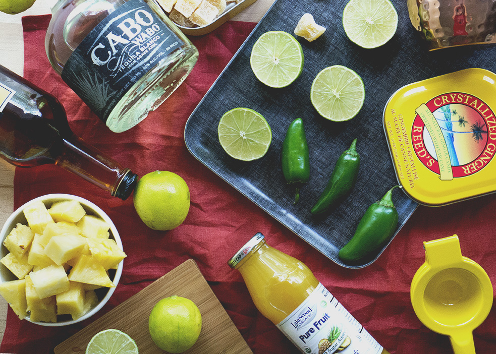 mexican mule flat lay