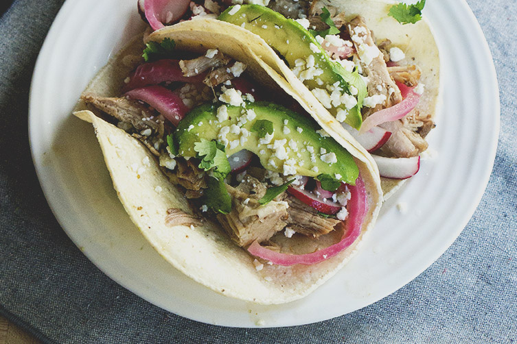 Overnight Oven-Braised Shredded Pork Tacos Recipes — Dishmaps