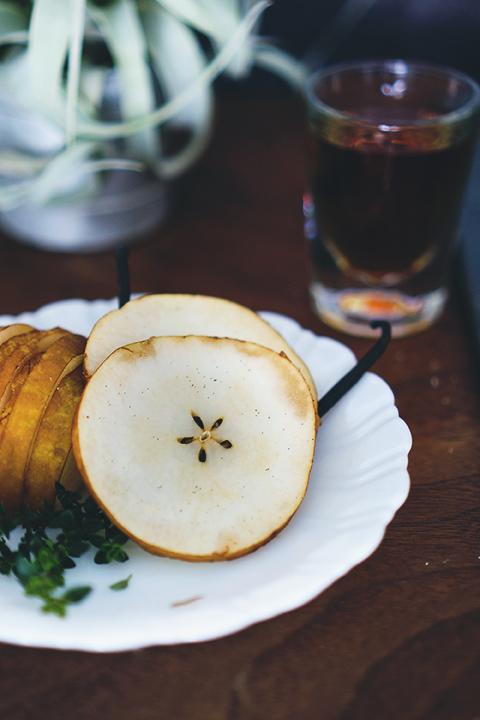 pear and bourbon shot web