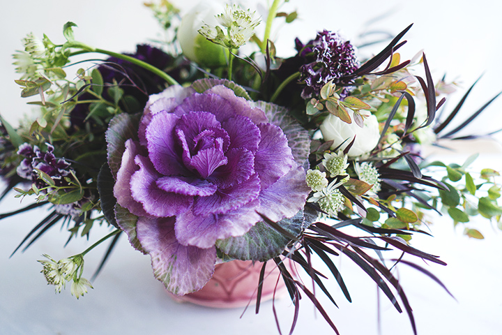 arrangement cabbage side